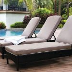 Latest Style Pool Lounge Chairs Furnishing on Pool Side