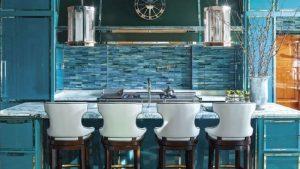 Creative Kitchen Splash Back with Lights Idea